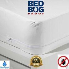 Bed Bug Allergen Waterproof Zippered Vinyl Mattress Cover Protector Defender