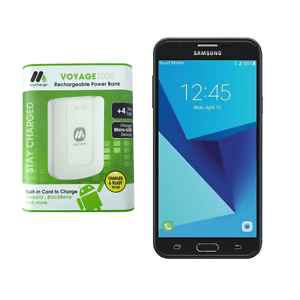 """Samsung Galaxy J7 Perx 5.5"""" 16GB LTE for Boost Mobile with Power Bank - New"""