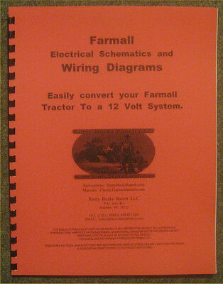 farmall 12 volt conversion wiring diagrams  schematics a b h m super h  super m  ebay