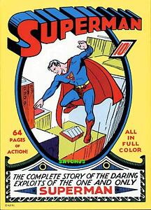 1974 SUPERMAN #1 DC COMICS ORIGINAL COVER POSTER ART PRINT (1939) MAN OF STEEL