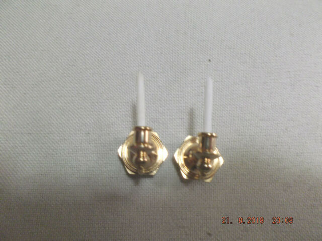 """Dollhouse Miniature 1:12"""" Scale Candle Wall Sconce Made of ... on Non Electric Wall Sconces For Candles id=76779"""