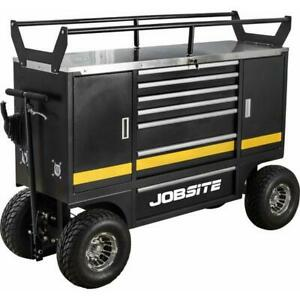 details about jobsite big wheeled large heavy duty tool trolley tyre rack with brakes