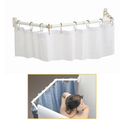 rv extendable shower curtain rod pivoting folding camper trailer motorhome stall ebay