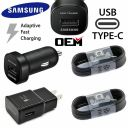 2X Pack- For Samsung Galaxy Note 8 S8 S9 Fast Car Wall Charger 4FT Type-C Cable