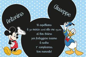 Dettagli Su Inviti Compleanno Topolino In Cartoncino O Pdf
