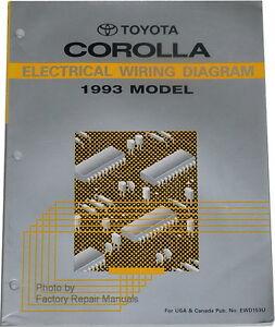 1993 Toyota Corolla Electrical Wiring Diagrams  Original