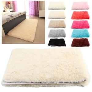 details sur maison decor tapis chambre shaggy antiderapant tapis de sol moelleux 80x 120cm