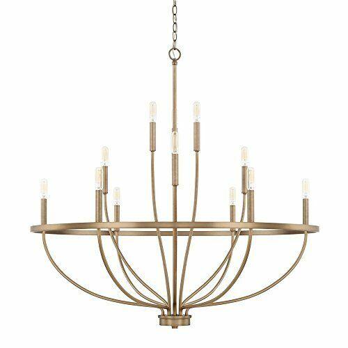 capital lighting 428501ad greyson 12 light chandelier aged brass
