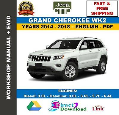 workshop manual jeep grand cherokee wk2 20142018  wiring diagrams  ebay