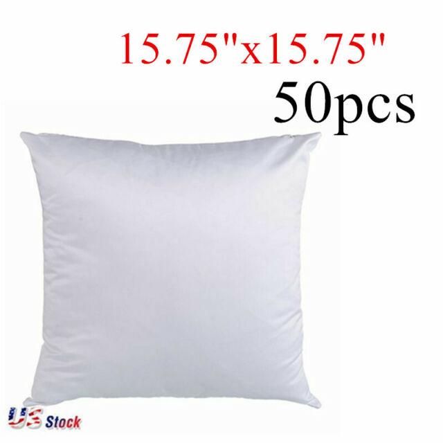 us stock 50pcs linen sublimation blank pillow case cushion cover 40x40cm