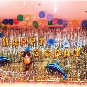 party backdrop background rain curtains