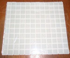 details about 12 american olean longshore mist crackle glass mosaic wall tiles 1116434