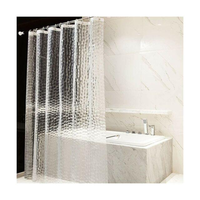 otraki long shower curtain liner 72 x 78inch eva bath curtains 12 hooks grommets