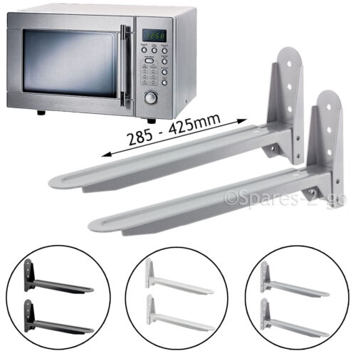 2 x universal microwave wall mount stand brackets extendable adjustable arm