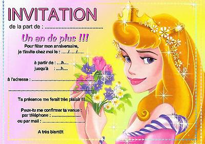 5 12 ou 14 cartes invitation anniversaire princesse aurore ref 415 ebay