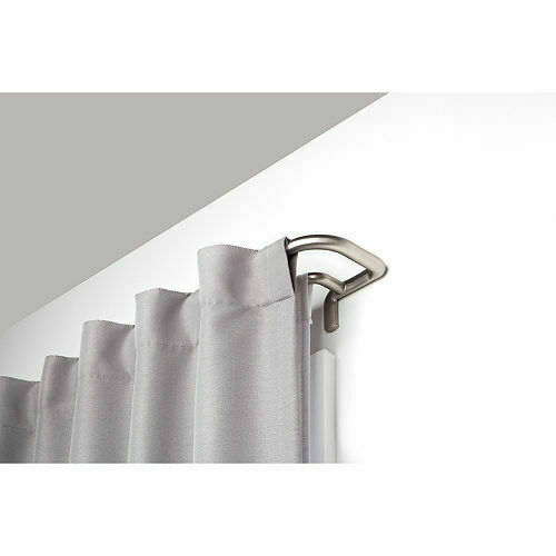umbra twilight room darkening double curtain rod for window 88 to 144 inch for sale online ebay