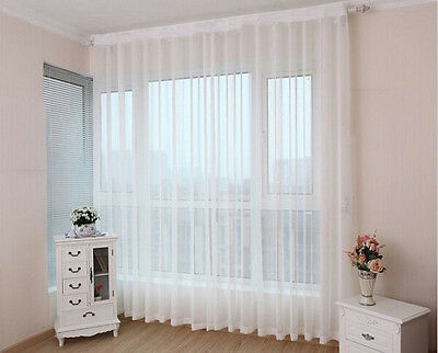 1pc sheer white voile scarf curtain panel sets curtains extra wide long ebay