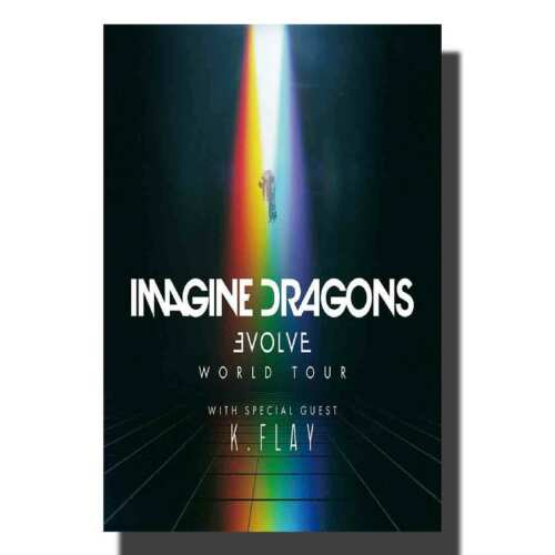 art l600 imagine dragons evolve music cover art poster canvas wall deocr 14x21 24x36 art posters