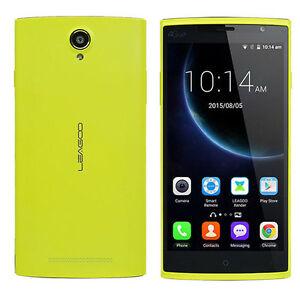 """Original Yellow LEAGOO Elite 5 Smartphone 5.5"""" Quad Core 2GB+16GB 13MP+8MP"""