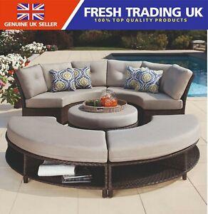 details about agio sunbrella fresno 5 piece curved woven sectional outdoor gardenpatio seating