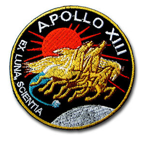 Apollo XIII Patch Iron on Emblem Nasa Space Luna Scientia Badge Racing Sew eBay