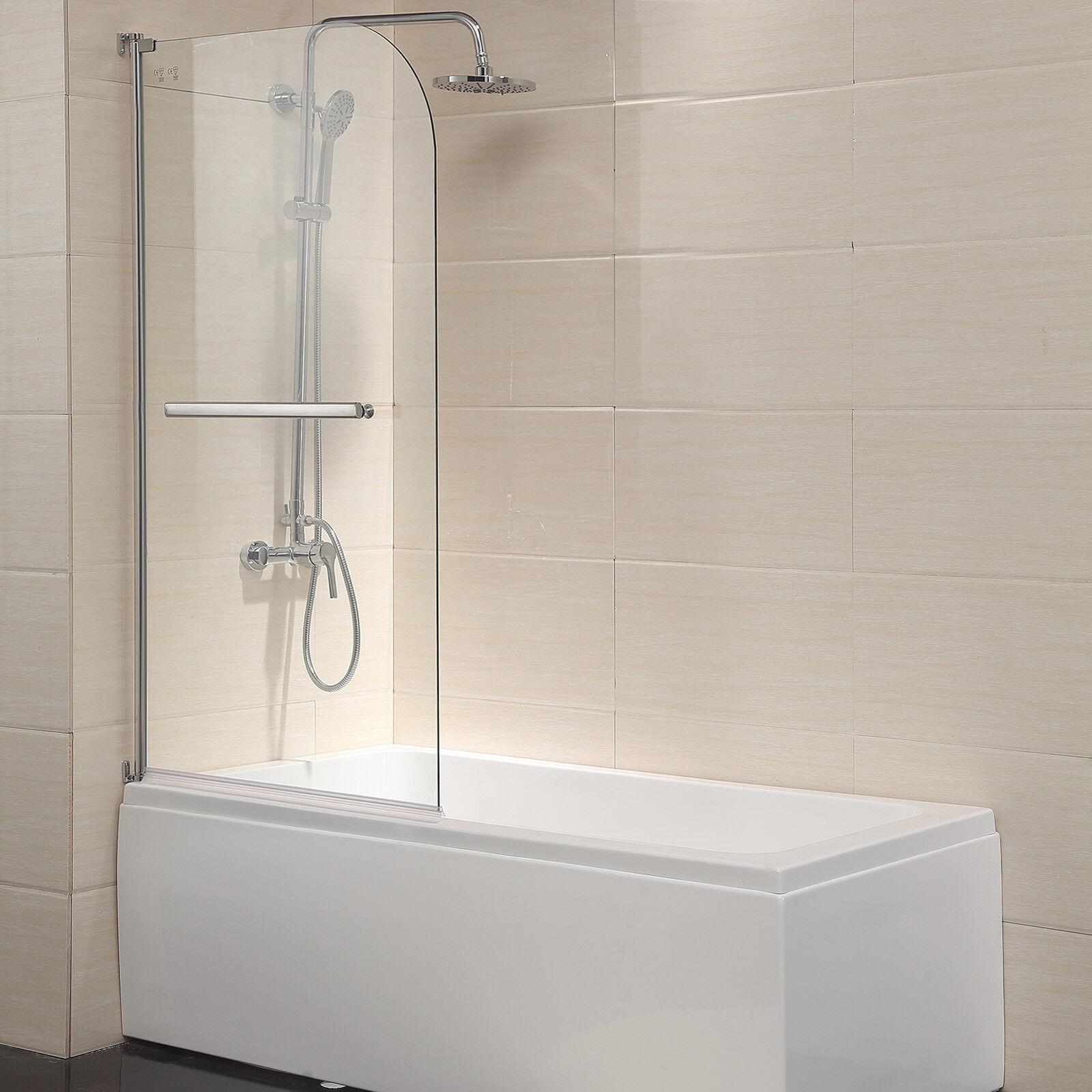 55 X31 Bathtub Shower Door Frameless 1 4 Clear Glass Chrome Finish