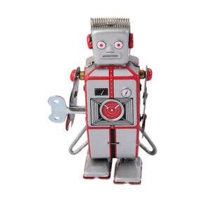 details sur jouet mecanique robot ancien metal wind up