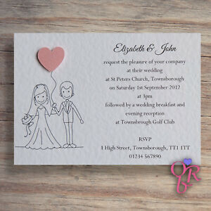 Details About Personalised Wedding Invitation Sample Any Of My Designs Occasions By Rebecca