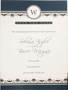 Details About Batman And Catwoman Wedding Invitation Save The Date Tom King Dc
