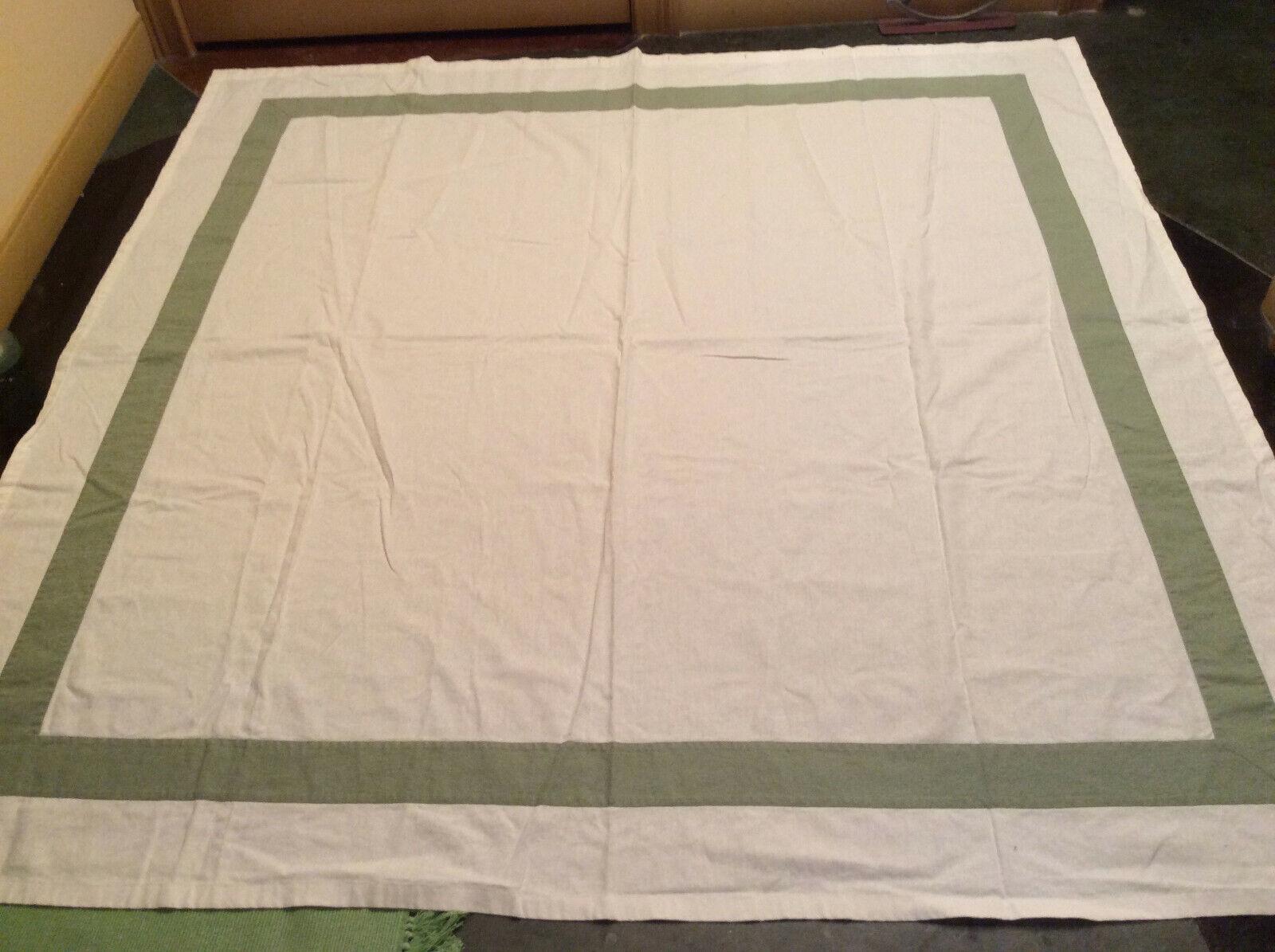 Cloth Shower Curtain Fieldcress Linen Cotton White Green 69 X 68 Nice
