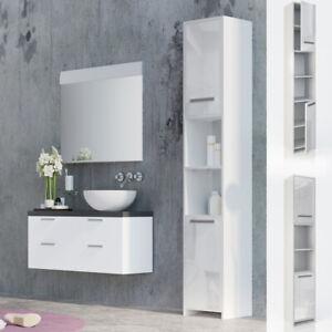Vicco Meuble Haut De Salle De Bain Kiko Armoire De Toilette Blanc Brillant Ebay