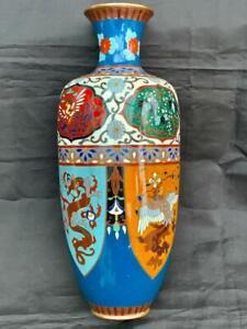 Superb Large Antique Chinese Cloisonné Vase.