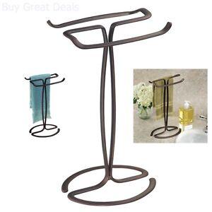 details about fingertip hand towel rack holder free standing bathroom counter vanities bronze