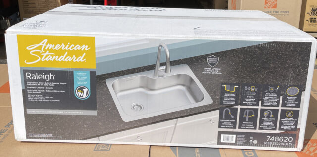 american standard raleigh stainless steel kitchen sink size 33x22