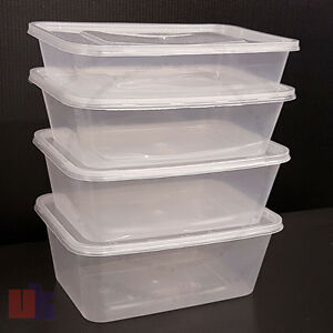 details about all sizes taha plastic food containers tubs lids microwave oven food safe