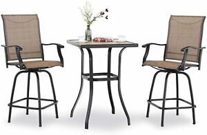 details about outdoor patio table chair set swivel counter height chair tall bar chairs stools