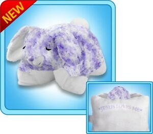 details about authentic pillow pets bunny prayer large 18 plush toy gift
