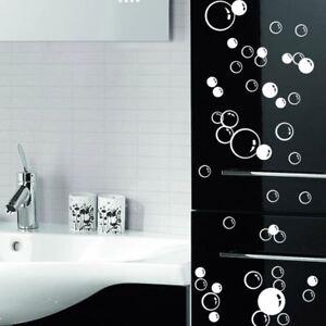 bubbles wall art bathroom window shower