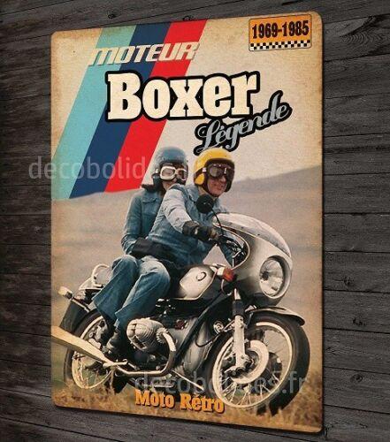 automobilia moto vintage bmw moteur boxer plaque metal deco 31x21cm auto moto pieces accessoires getriebe nrw