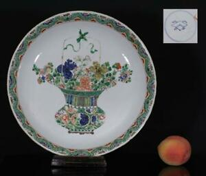 A MAGNIFICENT AND HUGE antique CHINESE PORCELAIN KANGXI FAMILLE VERTE PLATE 1700