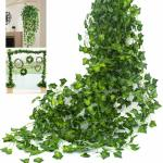 10m Artificial Ivy Vine Leaf Garland Plants Fake Foliage Flowers Decor Supplies For Sale Online Ebay