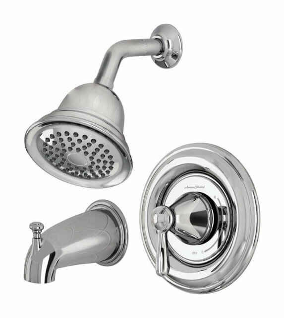 american standard marquette 7761 tub and shower set brass chrome