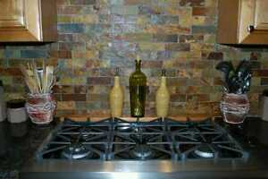 details about slate subway pattern mosaic stone tile kitchen backsplash free priority shipping