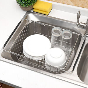 details about in sink dish drying rack drainer over the sink for small spaces inside hanging