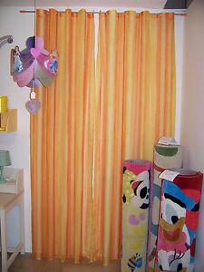 Bastoni ferro · bastoni per camerette. Tenda Per Cameretta Arancione E Gialla Con Bastone Tenda Camera Bambino Ebay