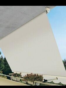tende da balcone a caduta, l'applicazione più comune. Tenda Da Sole A Caduta Da Balcone In Alluminio Con Bracci 300x250 Cm C Asta Ebay