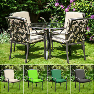 details about replacement cushion for homebase lucca metal garden patio dining chairs outdoor