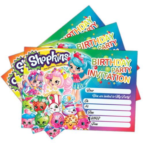 karten einladungen shopkins party invitationspack of 20 birthday invite cardschild kids girls mobel wohnen