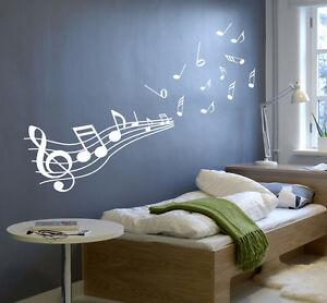 Grandi note musicali adesivo murale farfalla rimovibile adesivi murali. Grande Note Musicali Del Trasferimento Arte Adesivo Parete In Vinile Adesivi Murali Alta Qualita Ebay