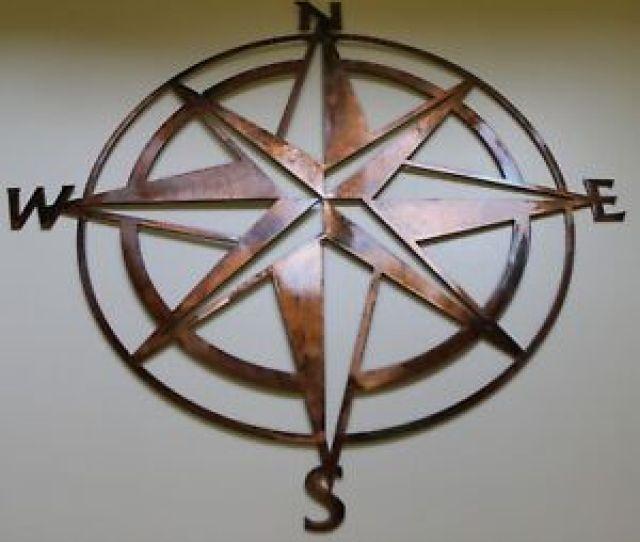 Nautical Compass Rose Wall Art Decor Copper Bronze Plated Ebay